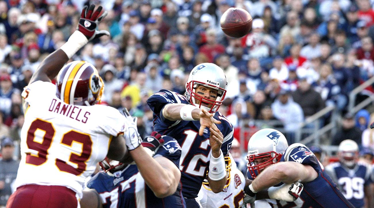 As in 2007, Brady and the Pats host Washington at 7-0 in Foxborough.
