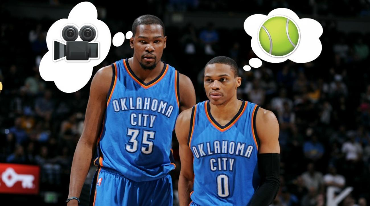 Oklahoma City Thunder's Kevin Durant, Russell Westbrook reveal hidden talents