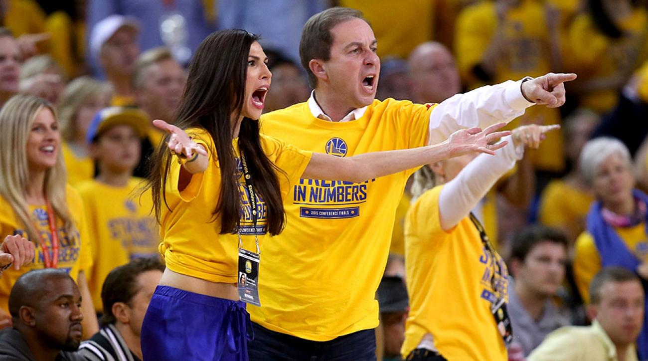 warriors owner joe lacob fiancee trophy sleep