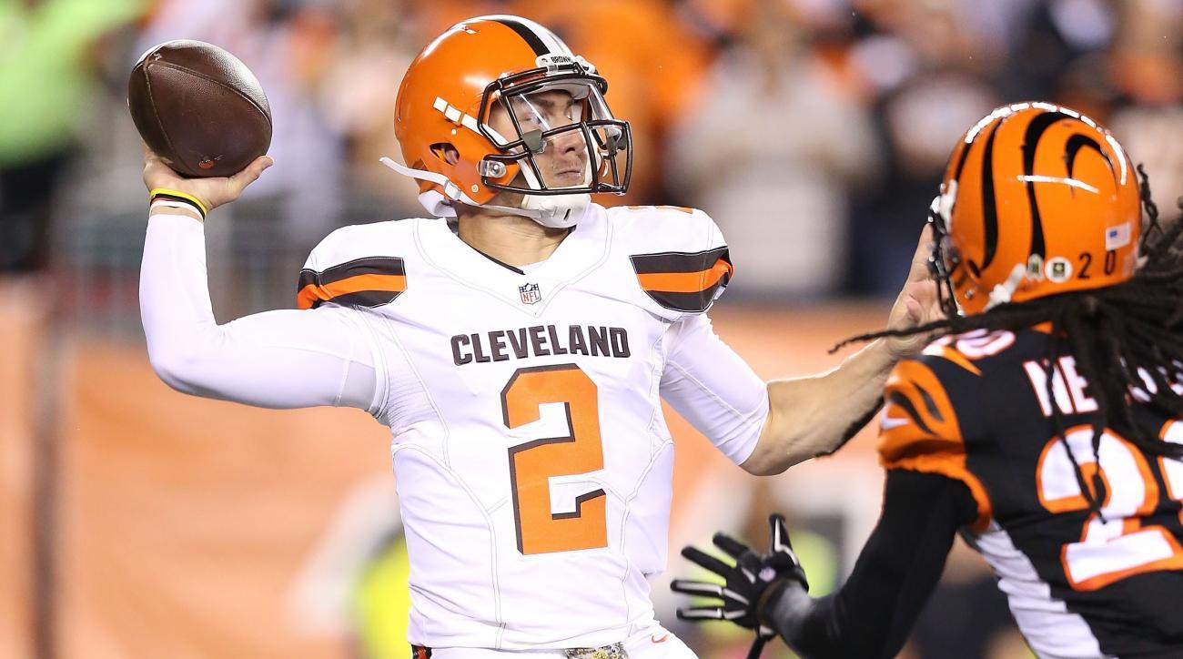 cleveland browns johnny manziel starting quarterback mike pettine