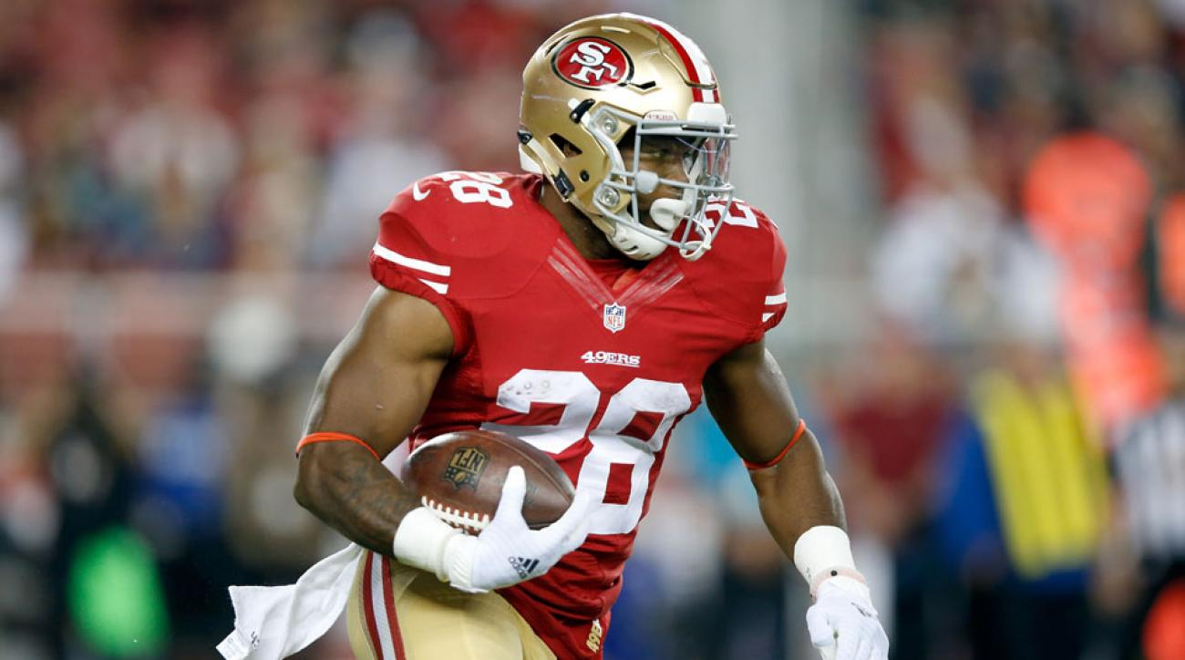 carlos hyde out vs falcons san francisco 49ers