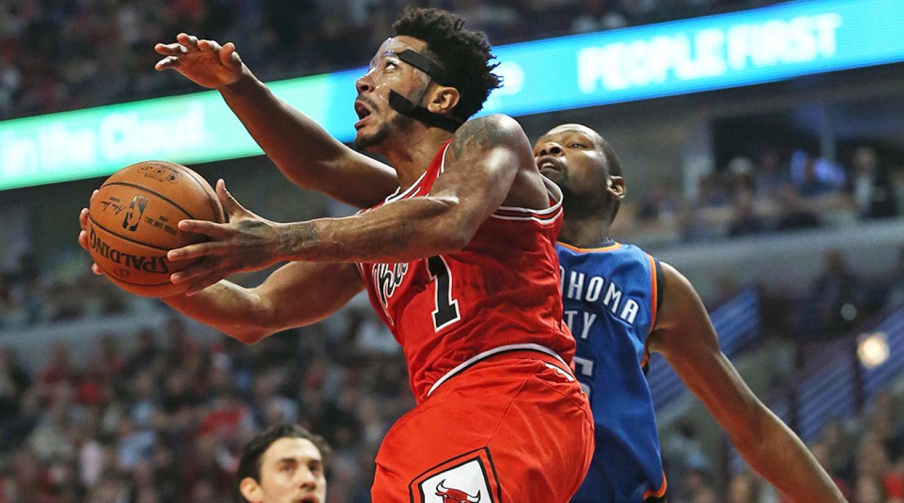 Derrick Rose Chicago Bulls Oklahoma City Thunder