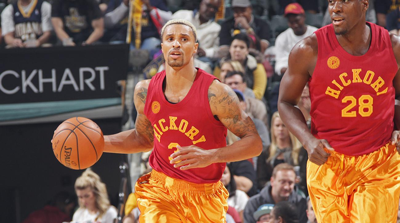 George Hill Hickory High uniforms Indiana Pacers Miami Heat