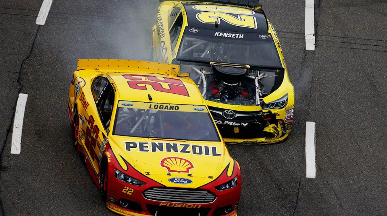 Matt Kenseth Joey Logano NASCAR crash