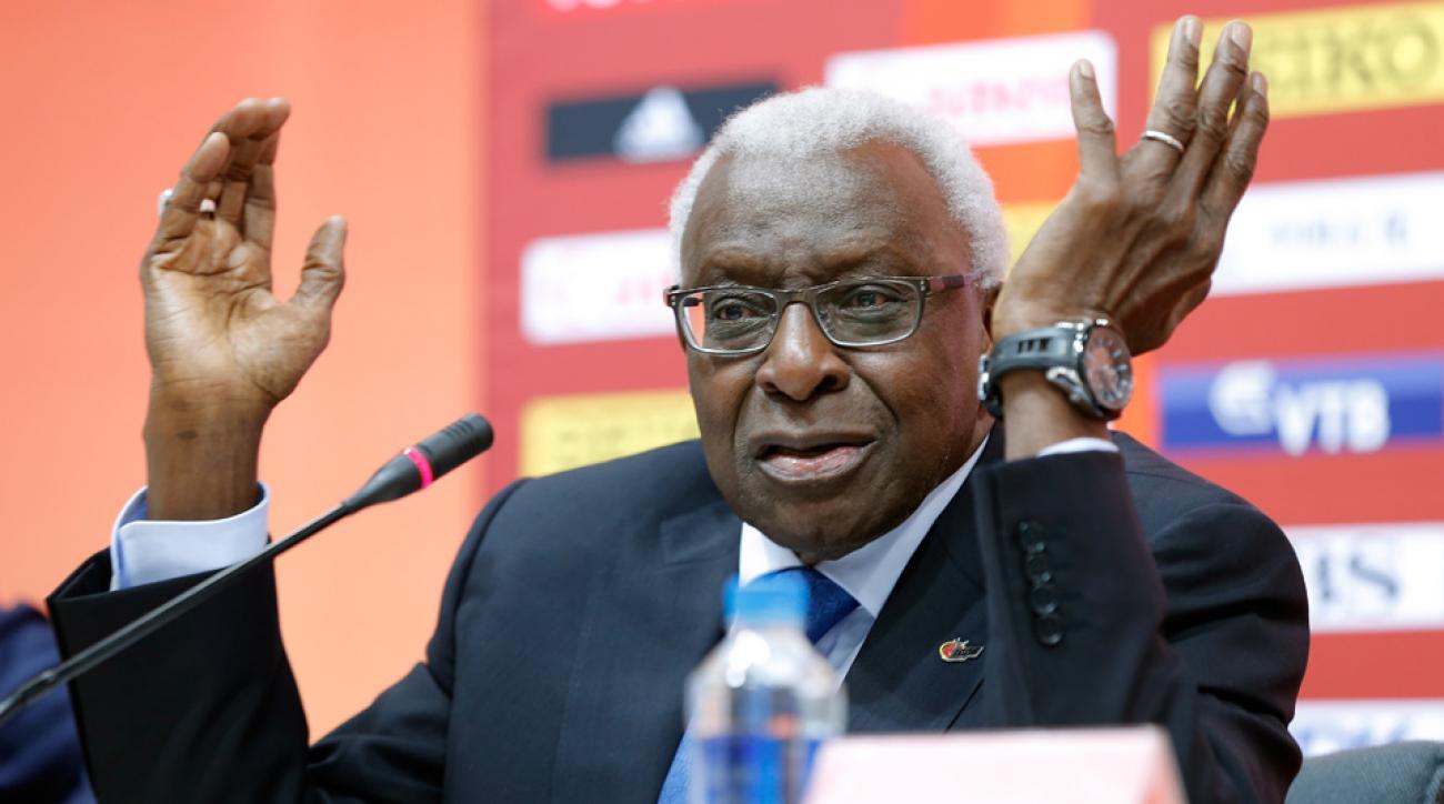 former iaaf president lamine diack ioc suspension