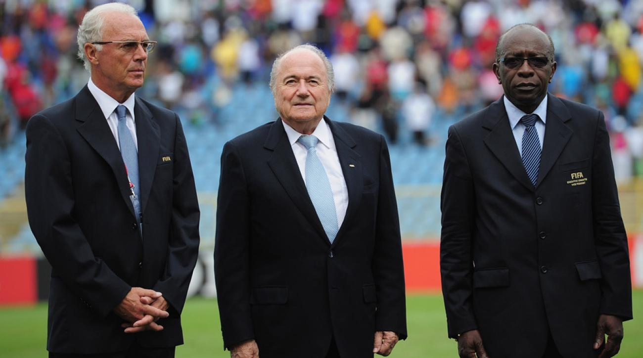 Franz Beckenbauer, Sepp Blatter, Jack Warner