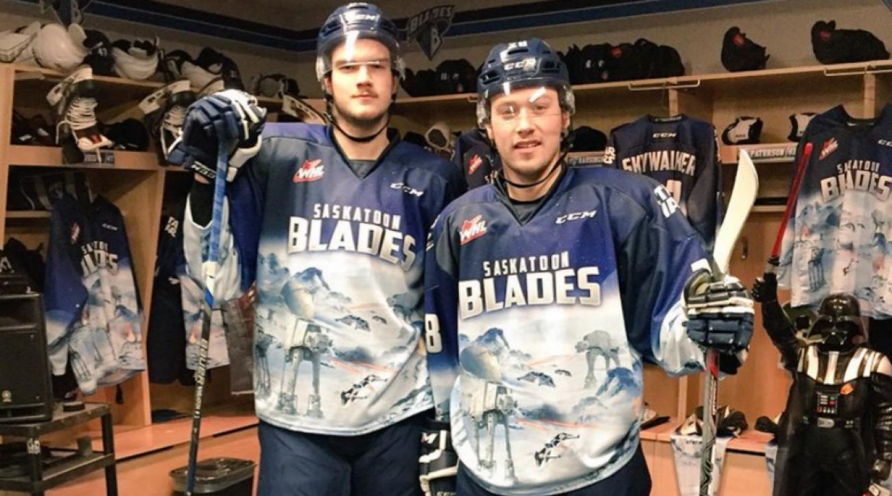 Saskatoon Blades' Star Wars night hockey jerseys