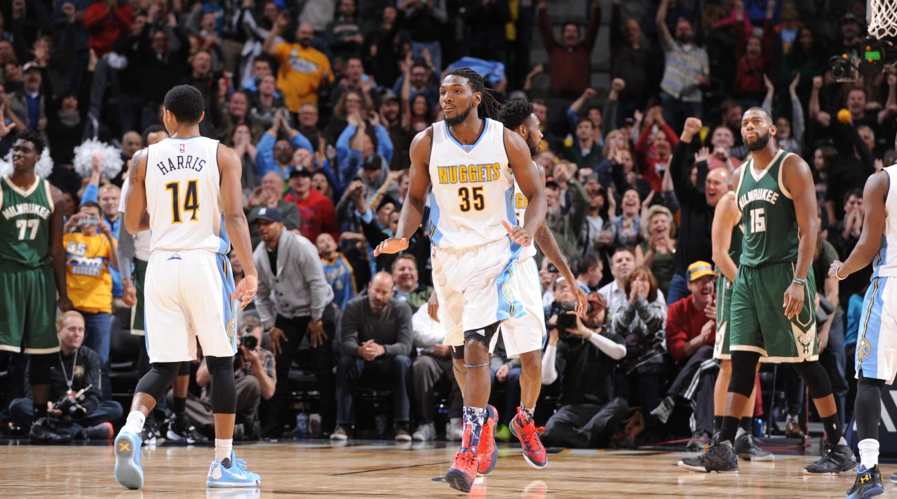 kenneth faried nuggets bucks game winner video