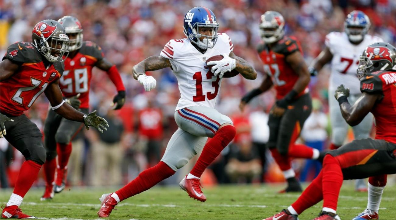 New York Giants' Odell Beckham's left-handed experiment