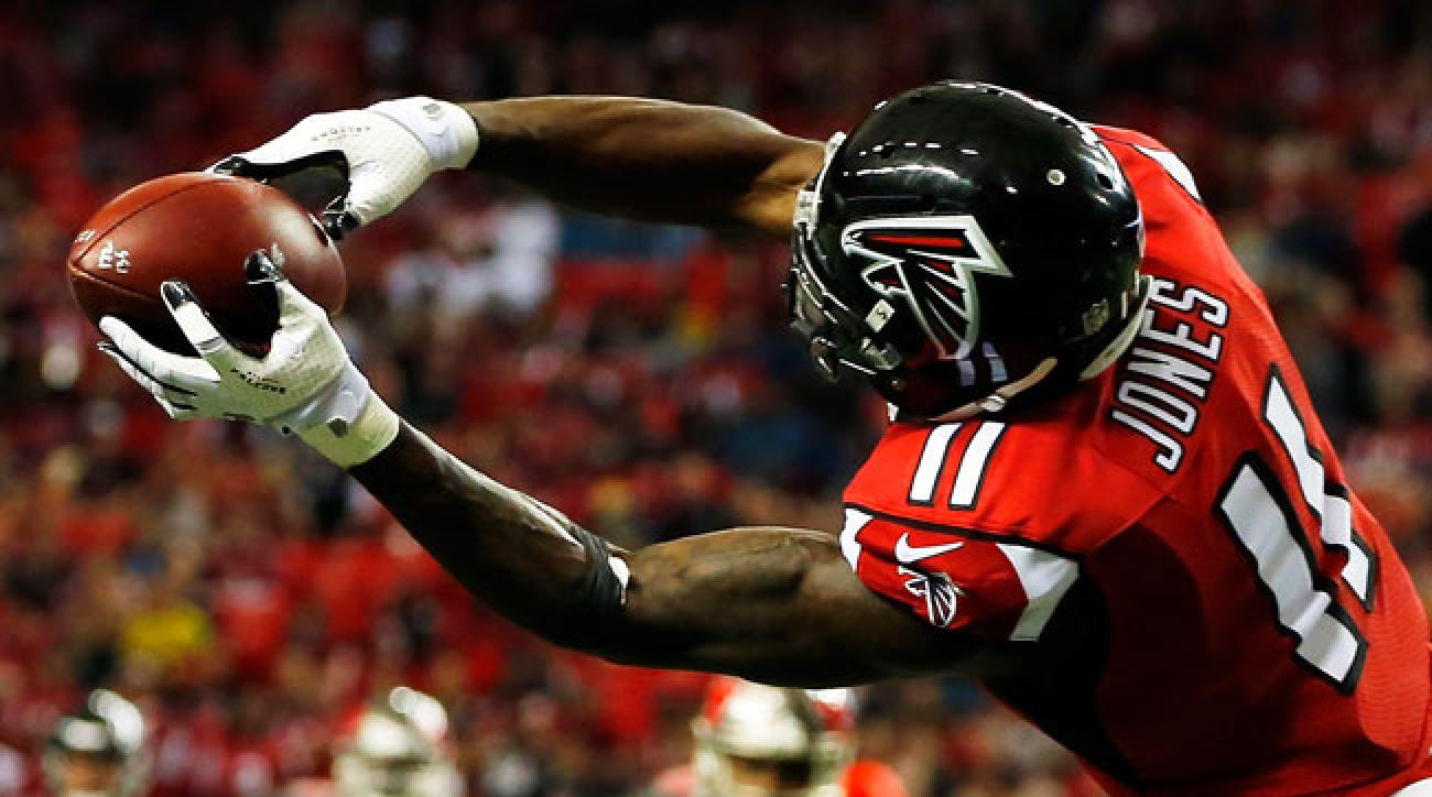 JULIO, GET THE STRETCH: Atlanta Falcons wideout Julio Jones was the easiest call to make on Andy Benoit's midseason All-Pro team.