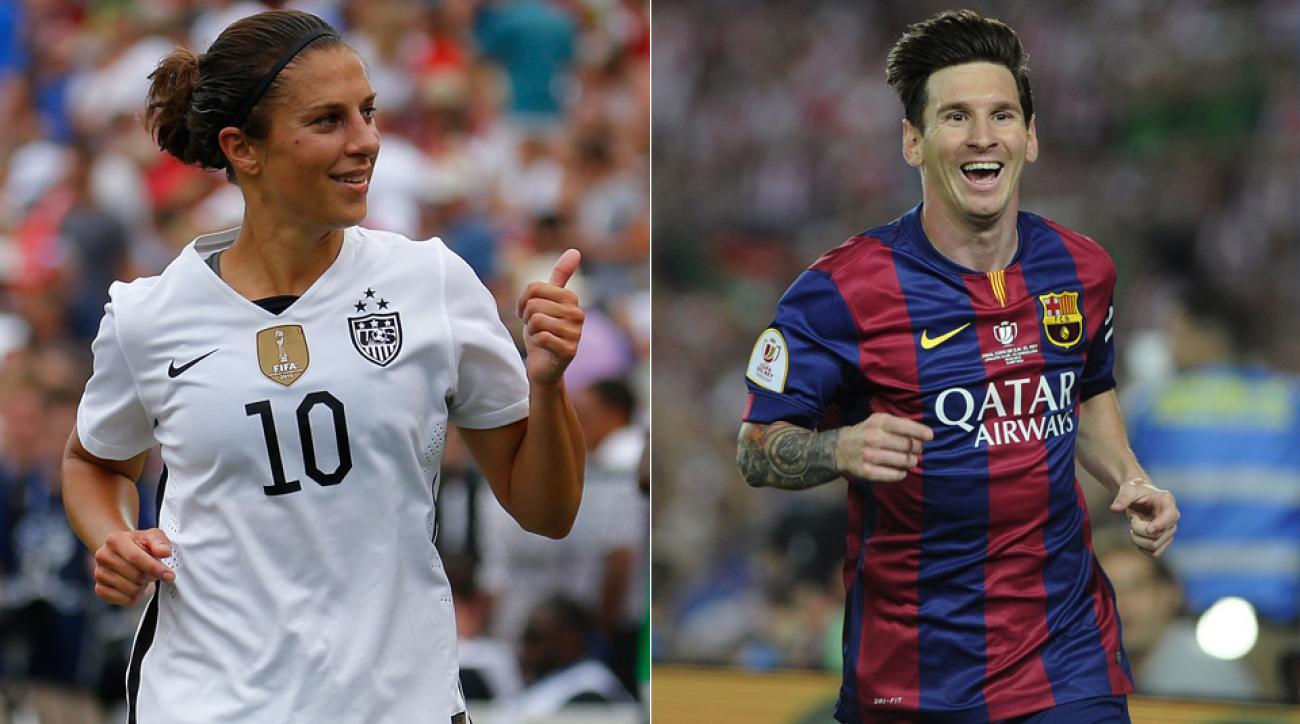 Carli Lloyd, Lionel Messi