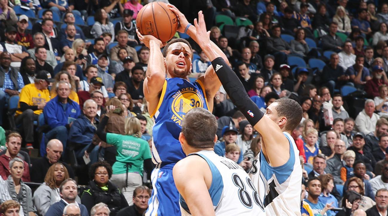 Stephen Curry Golden State Warriors Minnesota Timberwolves