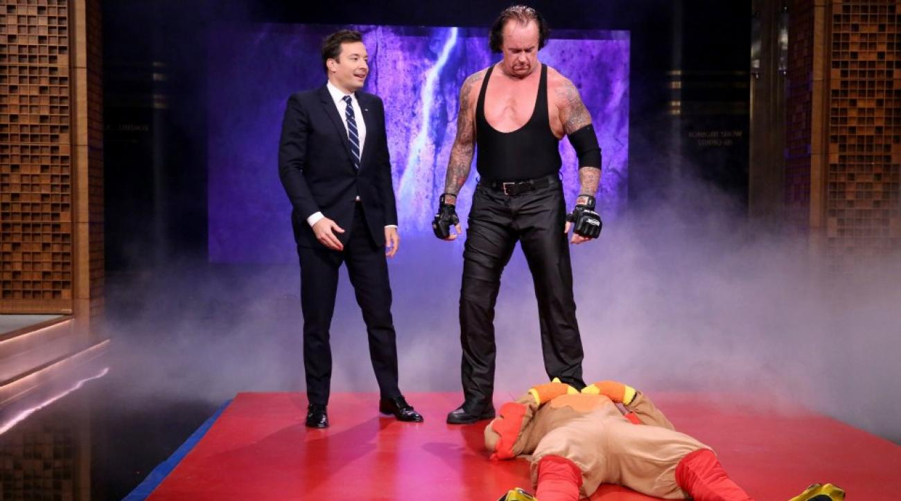Undertaker, New York Rangers Henrik Lundqvist stop by Jimmy Fallon's show