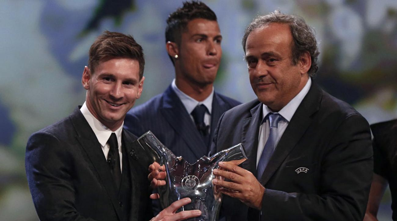 Lionel Messi won the award for Best Men's Player in Europe in August 2015. Cristiano Ronaldo was the runner-up.