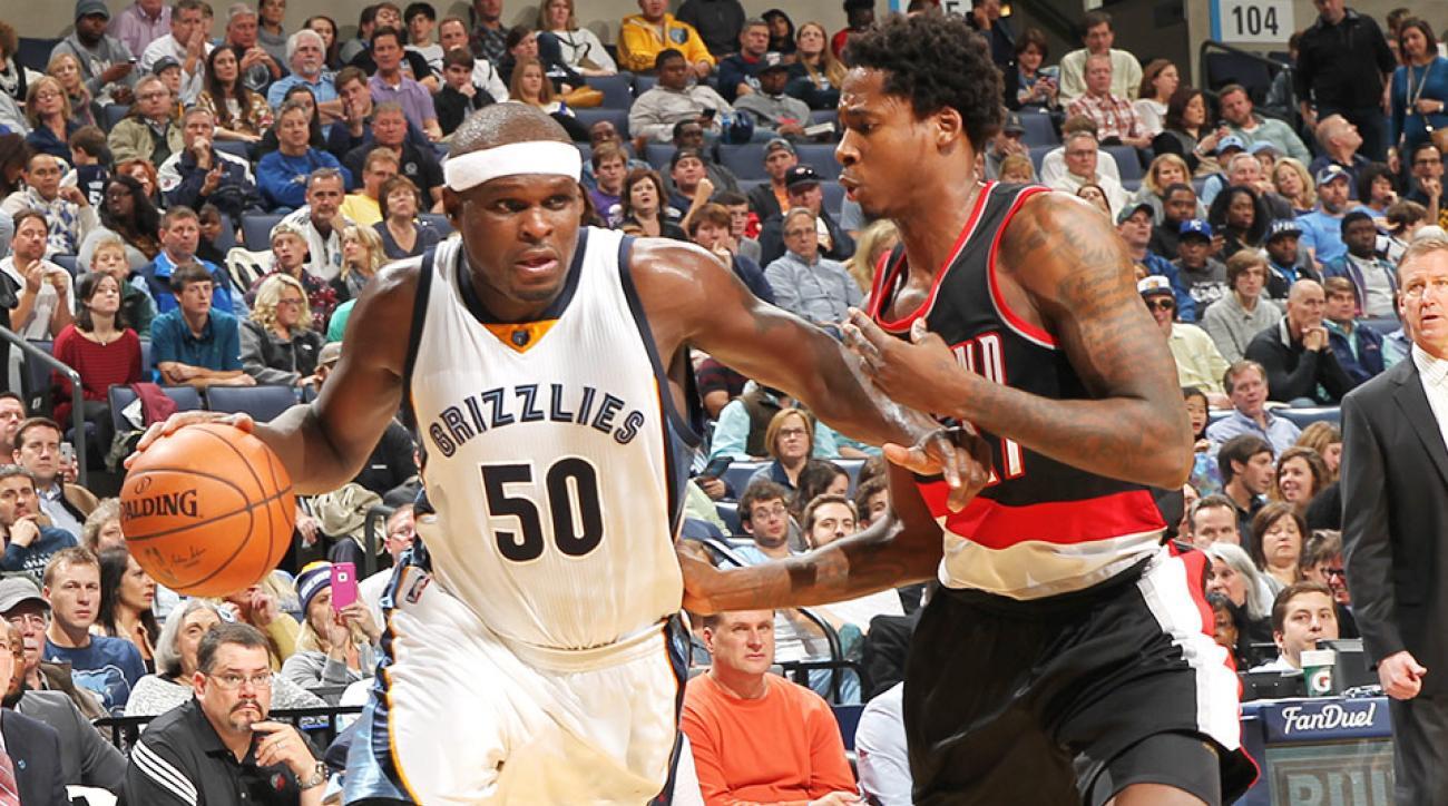 official photos 2418b 3847a Video: Grizzlies' Zach Randolph hits game-winner vs. Blazers ...