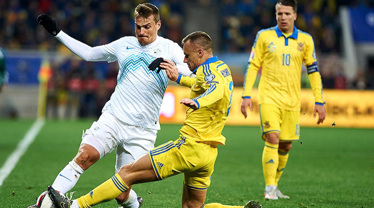 Ukraine Slovenia Euro 2016 playoff