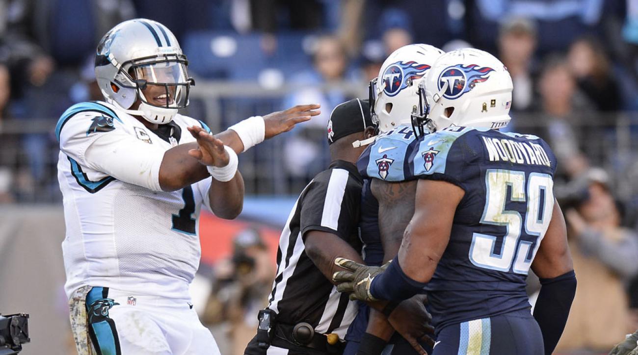 cam newton panthers titans dance touchdown