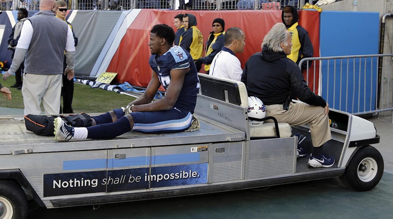 justin hunter titans injury update broken ankle