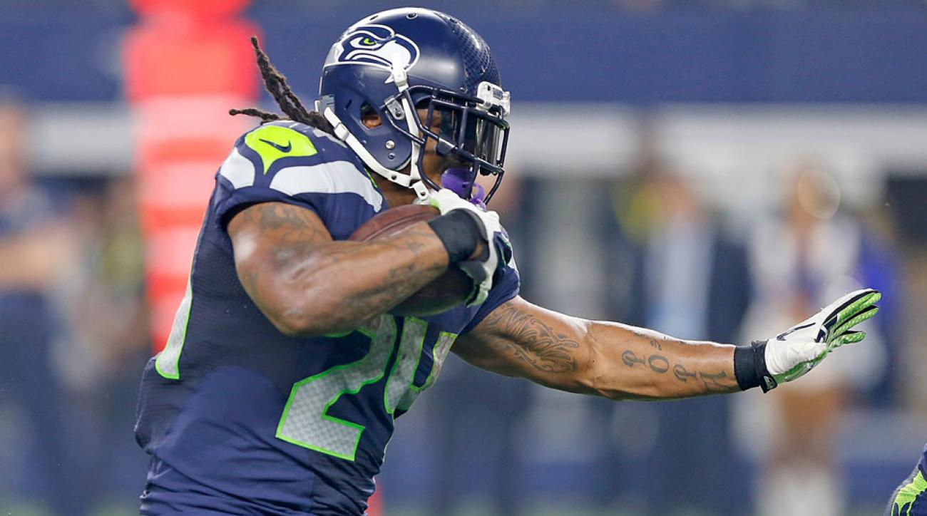 Seattle Seahawks Marshawn Lynch active vs Cardinals