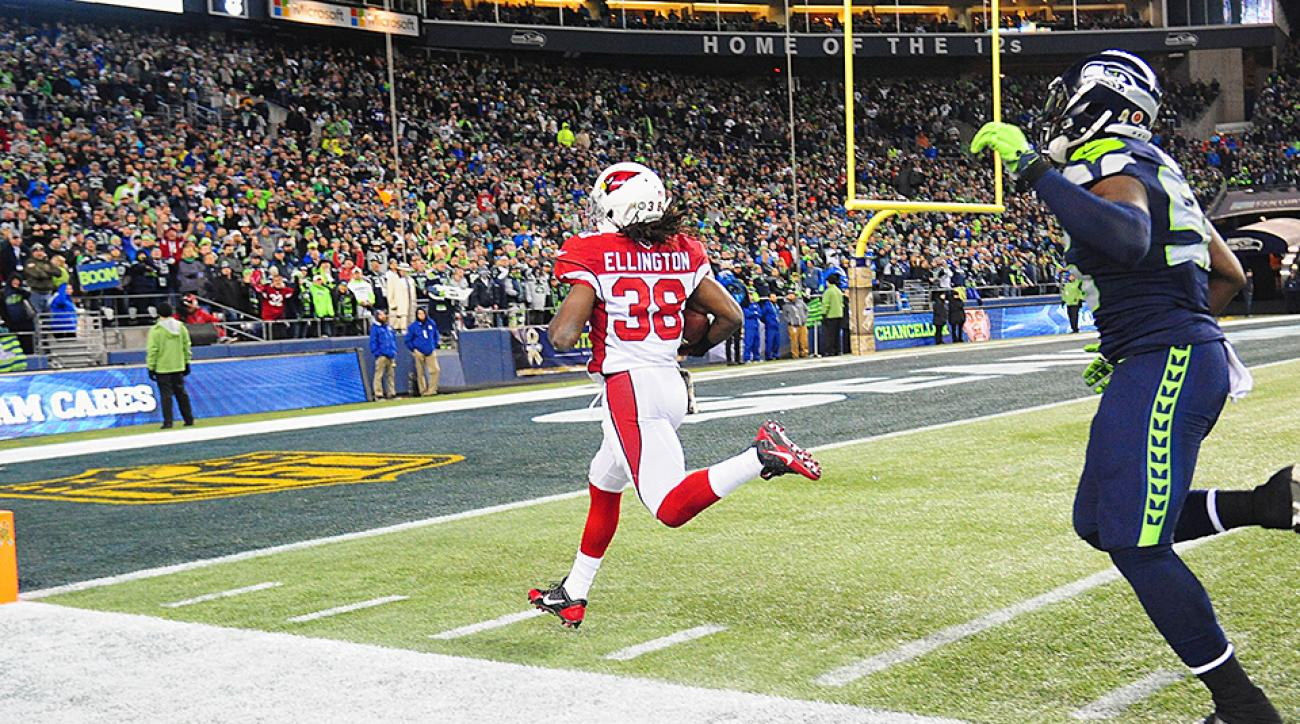 Andre Ellington scored the decisive touchdown for the Cardinals in their Week 10 win over the Seahawks.