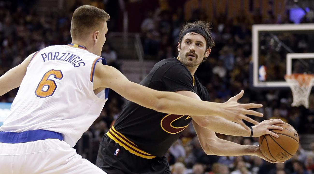 Kevinn Love has emerged early in the season as a major offensive factor for Cleveland.