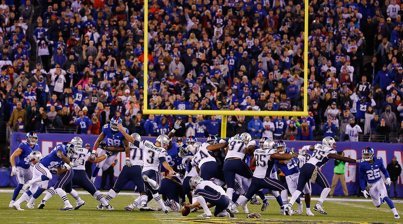 Stephen Gostkowski's 54-yard game-winner extended his field-goal streak to 30.