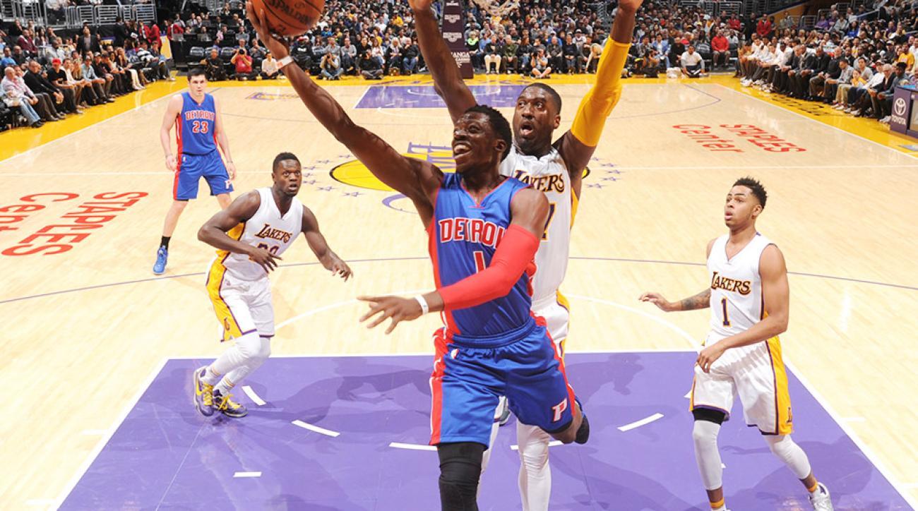 Reggie Jackson Detroit Pistons Los Angeles Lakers