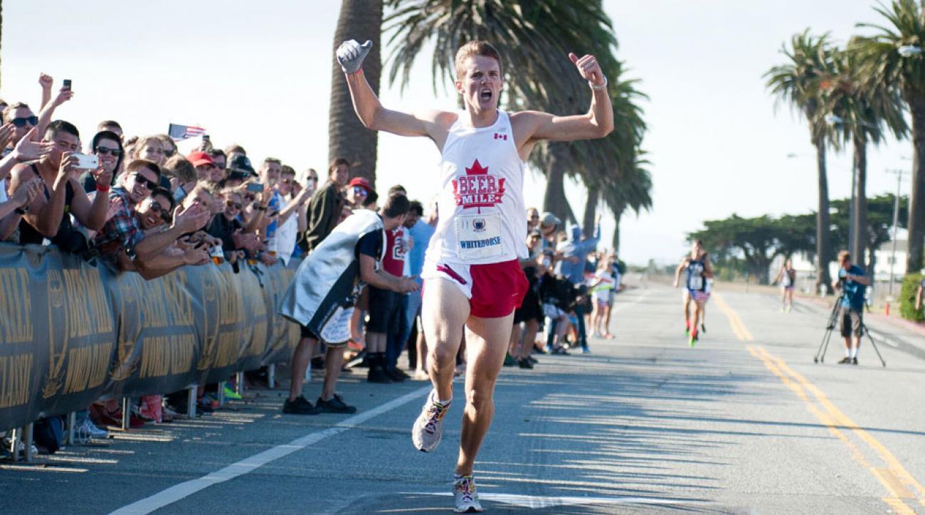 lewis kent beer mile world record 4:51