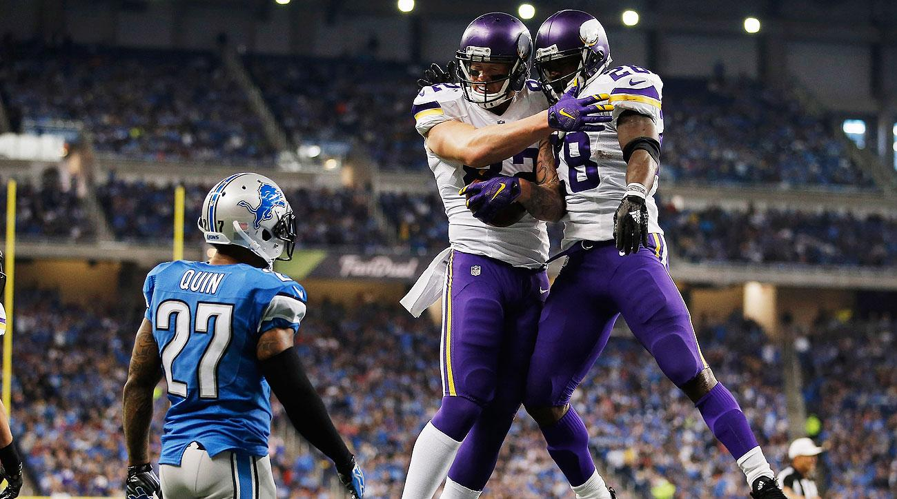 The Vikings are riding a five-game winning streak into Sunday's game against the Packers, who have lost three in a row.