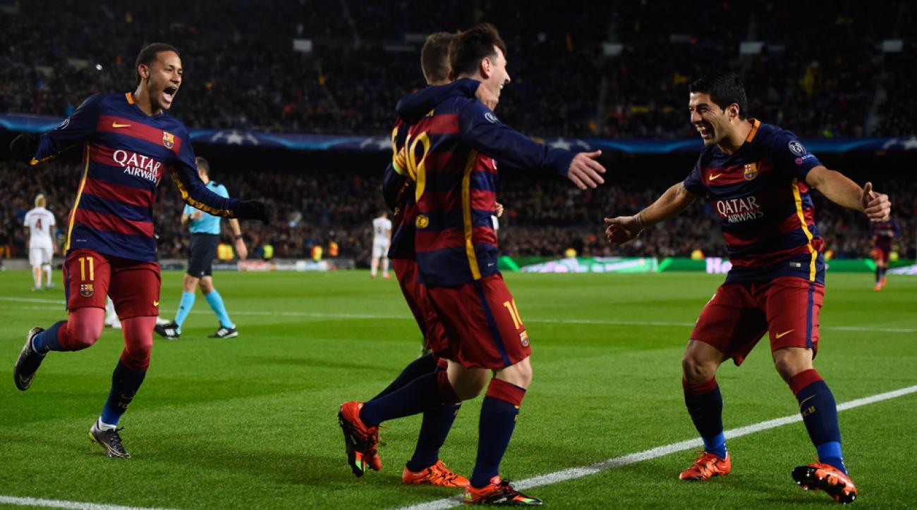 Neymar, Luis Suarez, Lionel Messi, Barcelona, Champions League