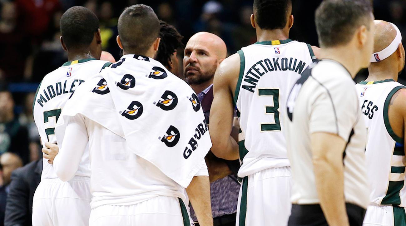 Jason Kidd ejection video Milwaukee Bucks Sacramento Kings