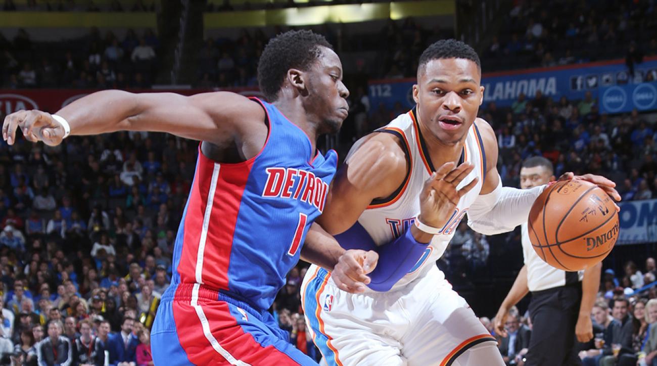 Russell Westbrook Reggie Jackson interview Oklahoma City Thunder Detroit Pistons