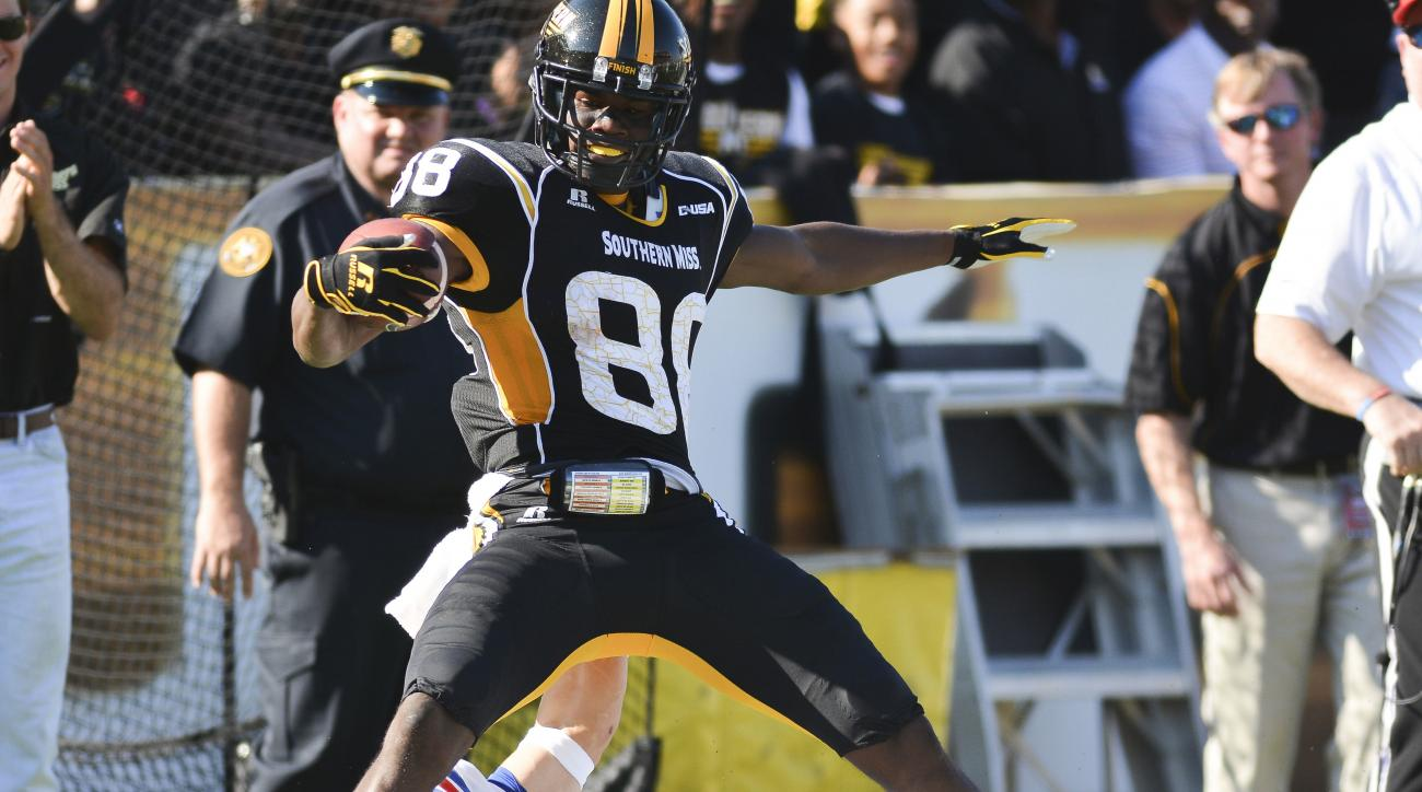 southern mississippi mike thomas one handed catch td video