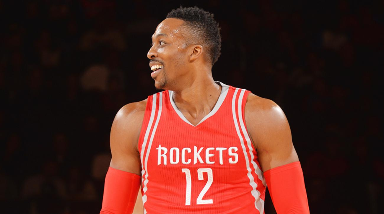 Dwight Howard Kristaps Porzingis dunk video Houston Rockets New York Knicks