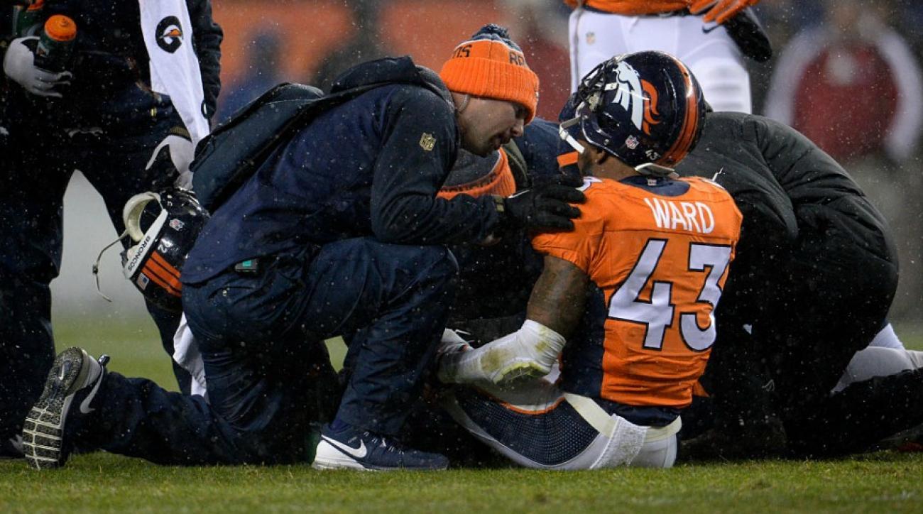 tj ward sylvester williams injury update ankle broncos