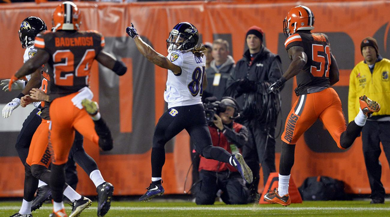 browns ravens kaelin clay punt return touchdown video