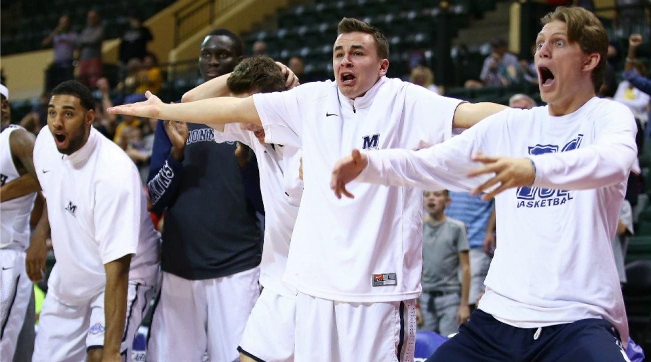 Monmouth's bench has hilarious celebrations
