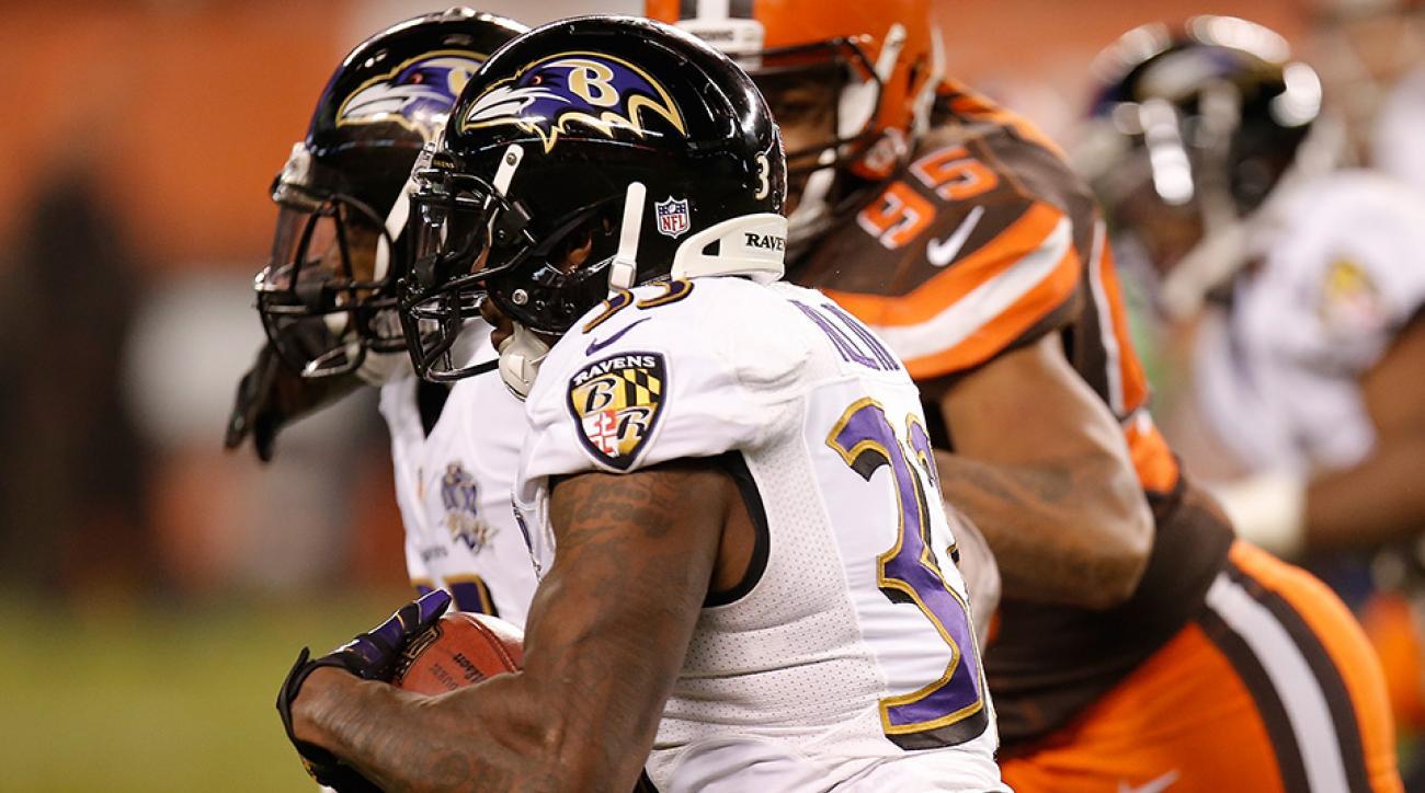 ravens browns blocked field goal return video