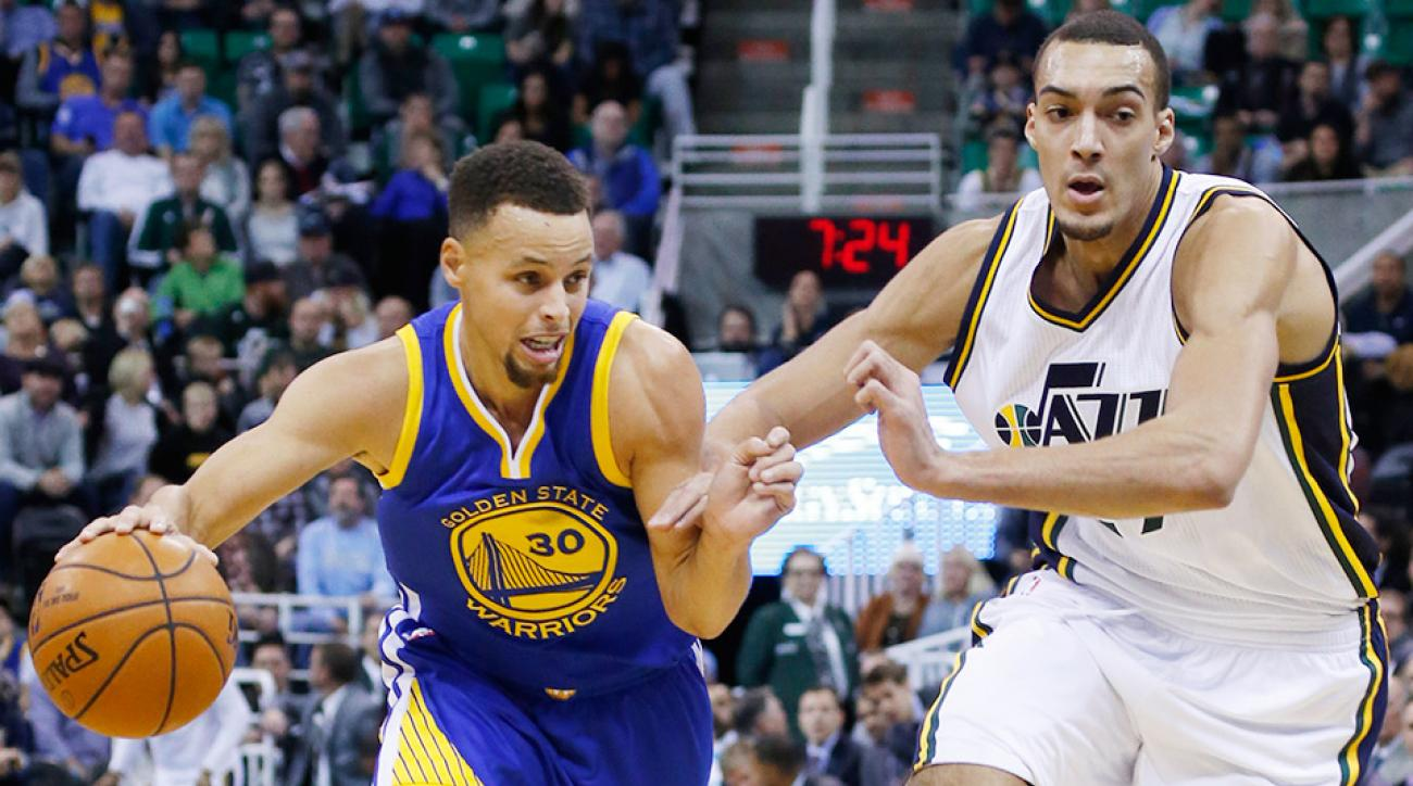 Stephen Curry Golden State Warriors Utah Jazz