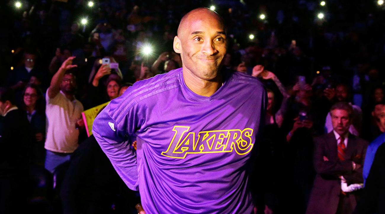 Kobe Bryant retirement Philadelphia Los Angeles Lakers