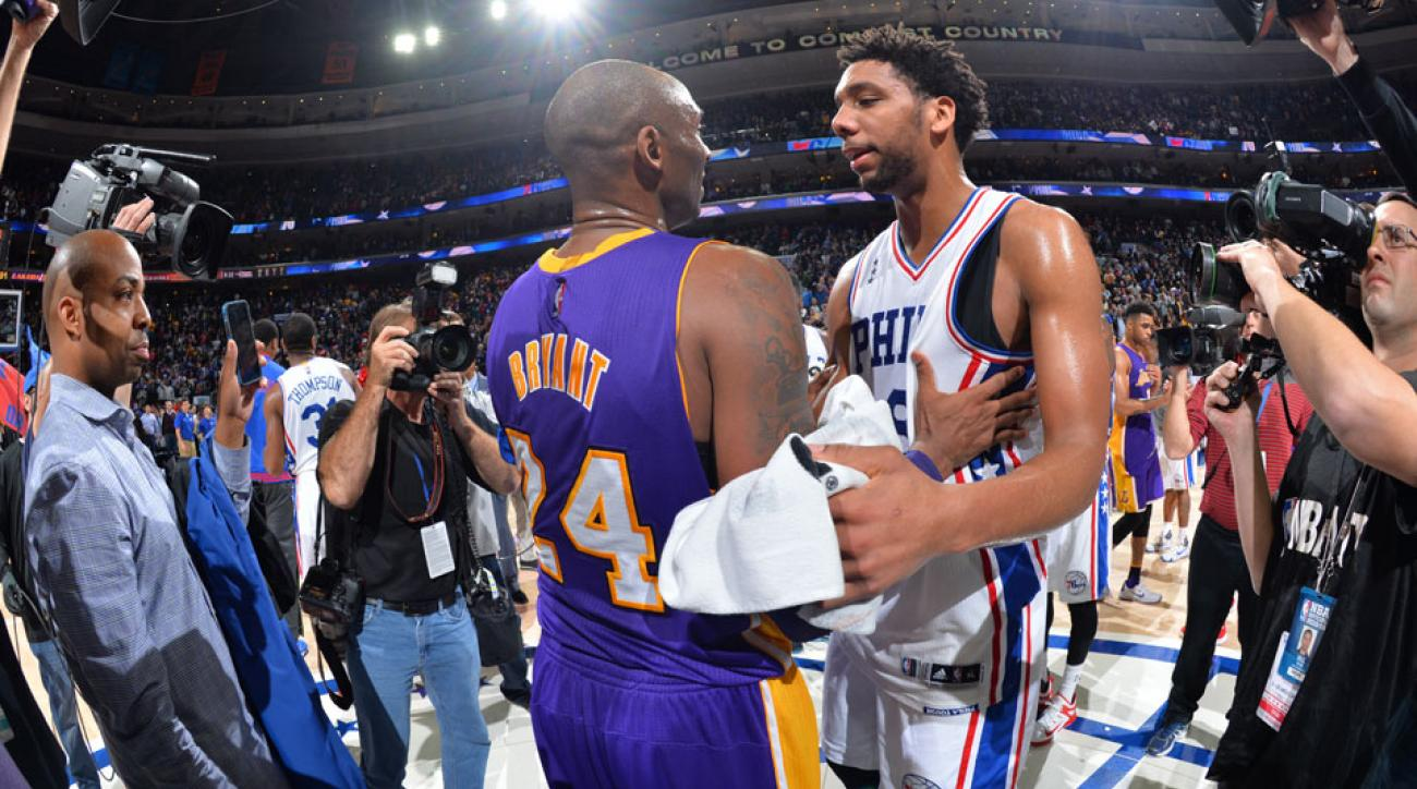 kobe bryant jahlil okafor advice lakers 76ers