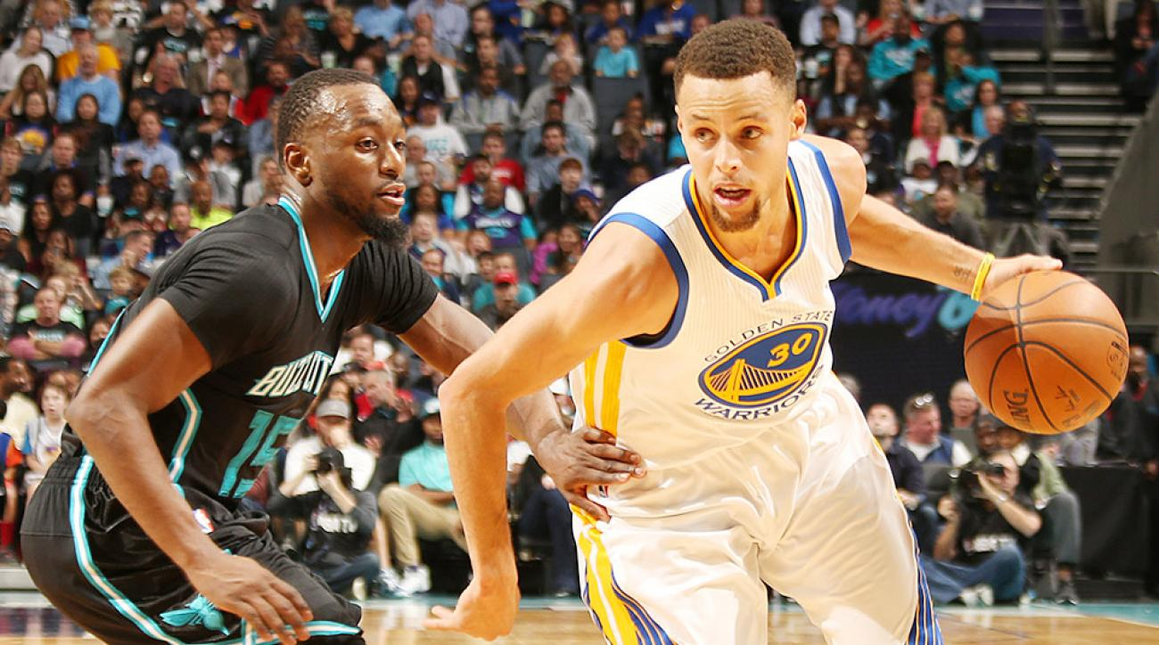 Stephen Curry Golden State Warriors Charlotte Hornets