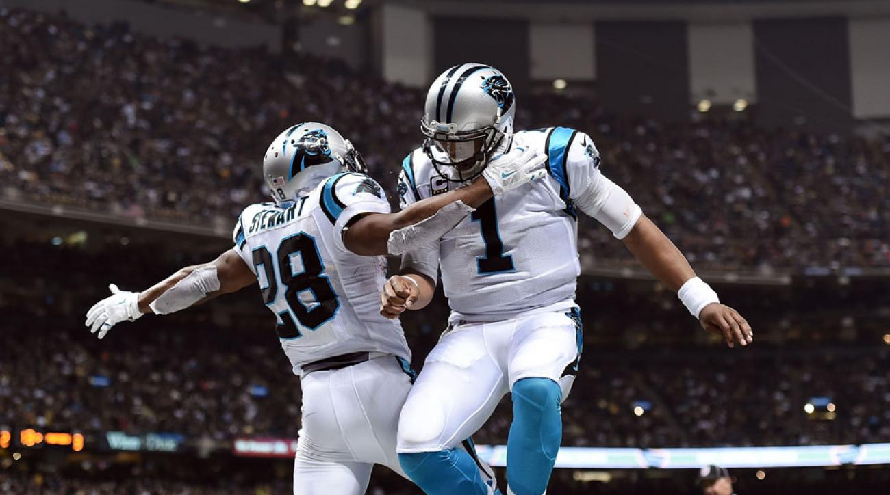 cam newton hands ball to fan video
