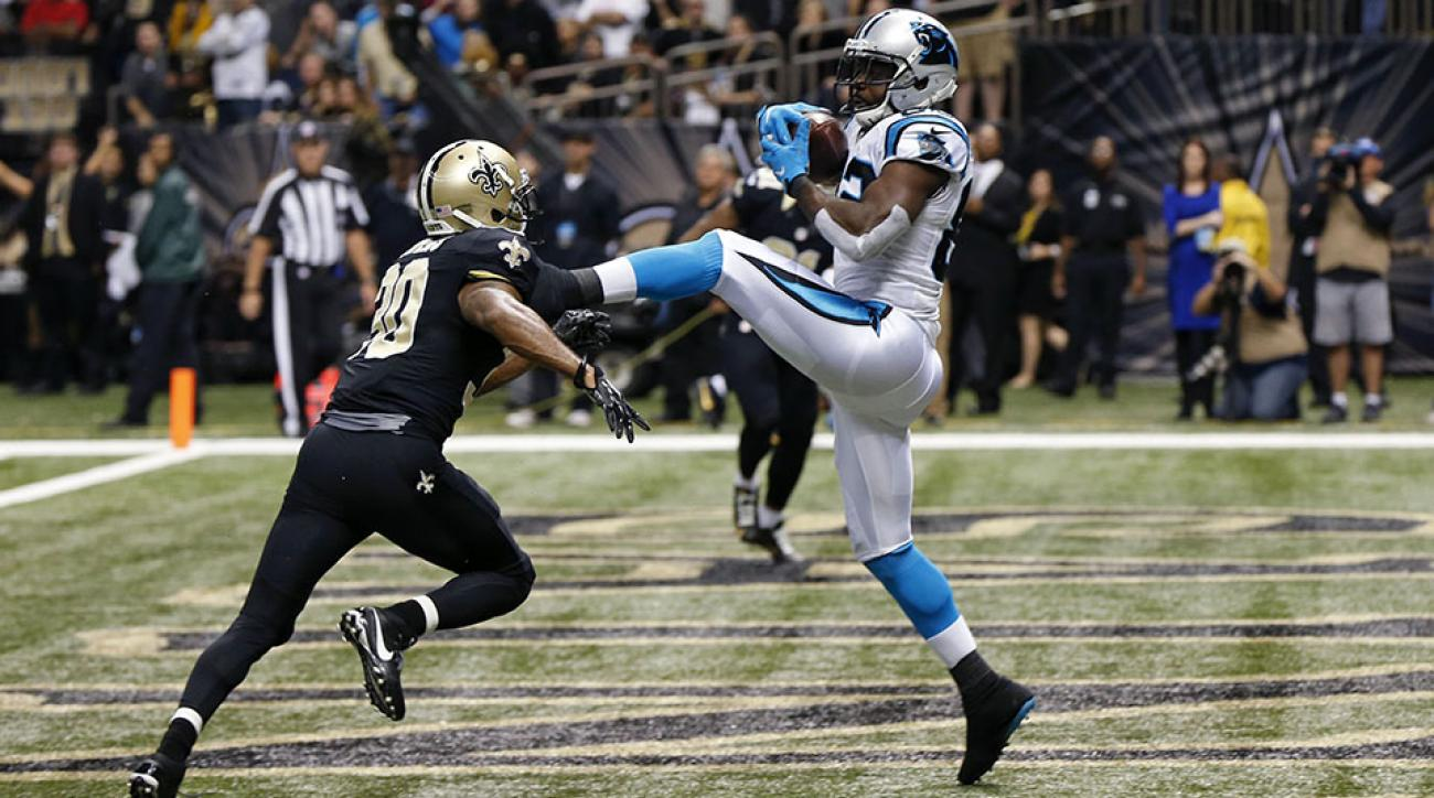 panthers saints cam newton touchdown pass video
