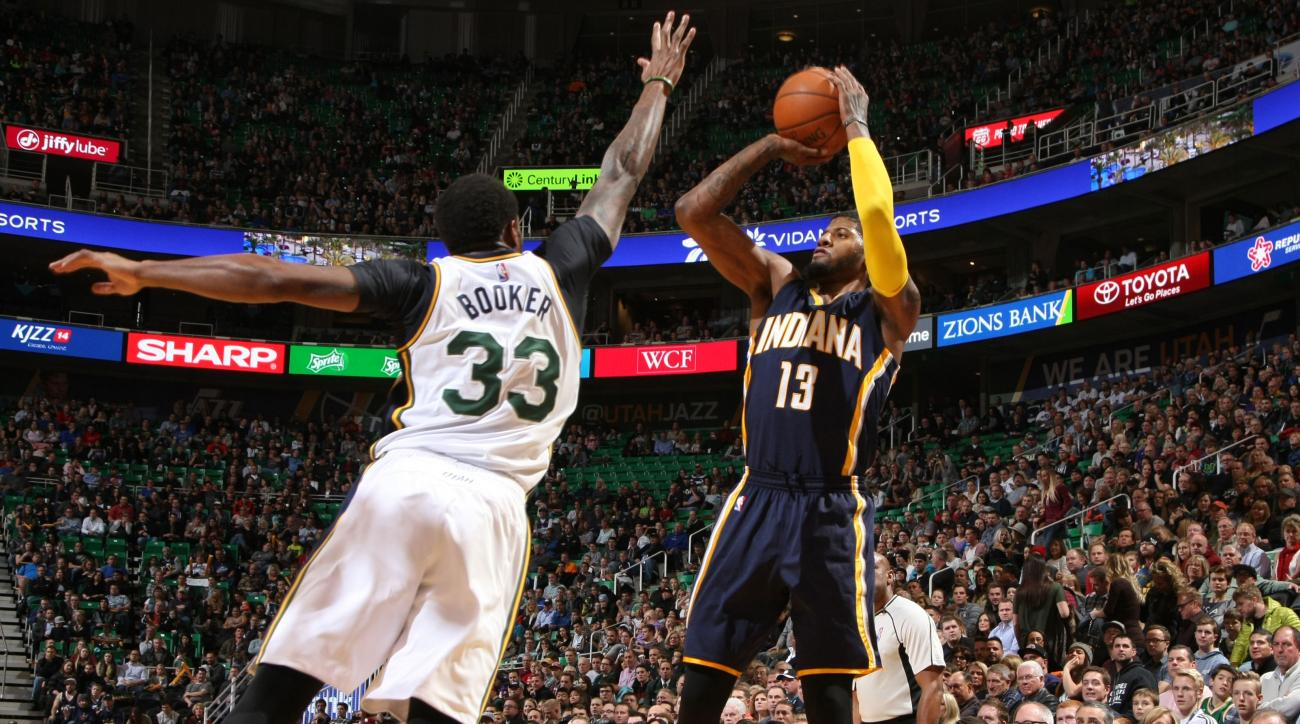paul george pacers career high points video