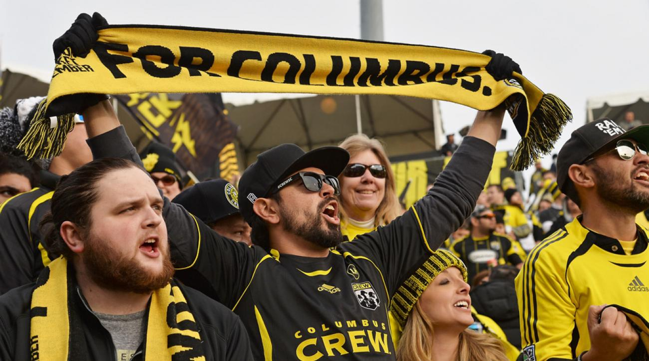 timbers mls cup crew fans throw trash