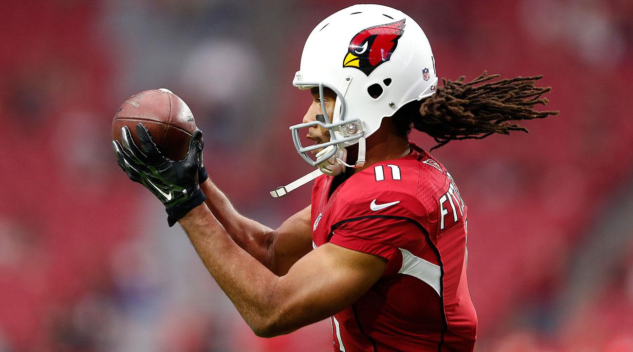 Larry Fitzgerald has 91 catches in 2015, the sixth time he's topped 90 in a season during his 12-year career.