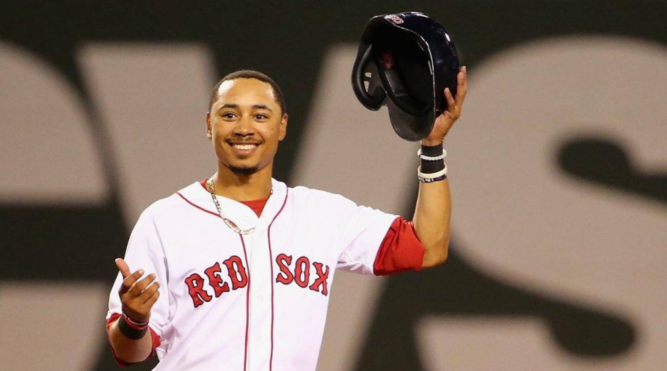 Boston Red Sox' Mookie Betts is trying out professional bowling