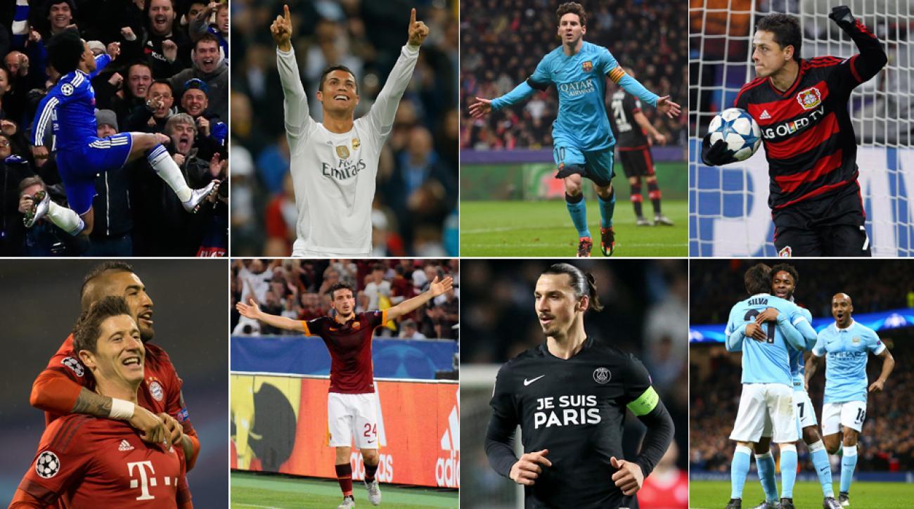 Champions League, Messi, Ronaldo, Zlatan, Lewandowski