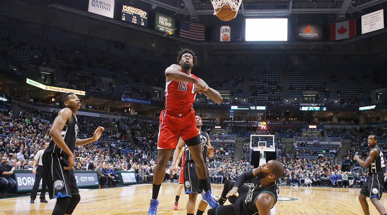 DeAndre Jordan dunk video Los Angeles Clippers Milwaukee Bucks